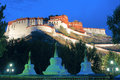 Potala palace the night scene of in lhasa tibet china Royalty Free Stock Image
