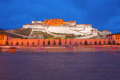 The potala palace night scene of in lhasa tibet china Royalty Free Stock Images