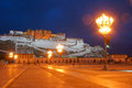 Potala palace the night scene of in lhasa tibet china Royalty Free Stock Photo