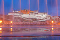 Potala palace the night scene of in lhasa tibet china Royalty Free Stock Images