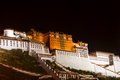 Potala palace the night view of Stock Photo