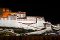 Potala palace the night view of Stock Images