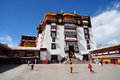 Potala palace with pilgrims the is located in lhasa the capital of the tibetan autonomous region it is decorated beautifully for Royalty Free Stock Photography