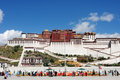 Potala Palace in Tibet Royalty Free Stock Photos