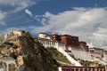 Potala palace the view of Royalty Free Stock Image