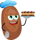 Potato as confectioner vector style illustrated vector format is available Stock Photography