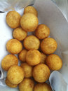 Potato balls deep fried in bag Royalty Free Stock Photography