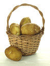 Potato basket Stock Images