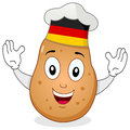 Potato Chef Character with German Hat