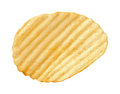 Potato Chip with Ridges isolated Royalty Free Stock Photo