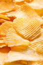 Potato chips background Stock Images