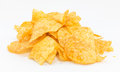 Potato chips barbecue flavour on white background Royalty Free Stock Image