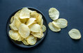 Potato chips in the bowl Royalty Free Stock Photo