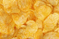 Potato chips can be used as a background Royalty Free Stock Photography