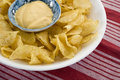 Potato chips and dip close up Stock Image