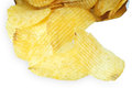 Potato chips isolated on white background Stock Photos