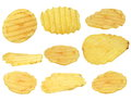 Potato chips isolated on white background,with clipping path Royalty Free Stock Photo