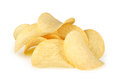 Potato chips on white background Stock Photo