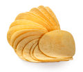 Potato chips on white background Stock Photography