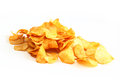Potato chips on a white background Royalty Free Stock Photography