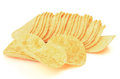 Potato chips on a white background Royalty Free Stock Image