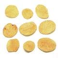 Potato crisps isolated on white background Stock Photography