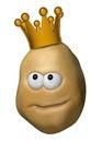 Potato with crown Royalty Free Stock Photo