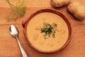 Potato dill soup Royalty Free Stock Photo
