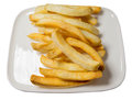 Potato fries french fry on the dish Royalty Free Stock Image