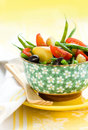 Potato and green bean salad Royalty Free Stock Photo