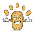 Potato - Juggling Royalty Free Stock Image