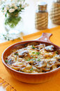 Potato and mushroom gratin Royalty Free Stock Photos