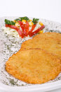 Potato Pancake / Griddle Cake on plate isolated Royalty Free Stock Photography
