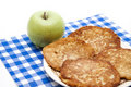Potato pancakes with apple Stock Image