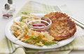 Potato patties - Rösti landscape Royalty Free Stock Photos