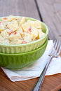 Potato salad with diced pimento Royalty Free Stock Images