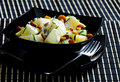 Potato salad with mushrooms Stock Photography