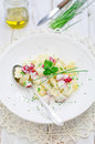 Potato salad with radishes Royalty Free Stock Image