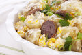 Potato Salad with Sausage and  Corn Royalty Free Stock Image