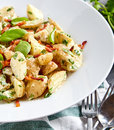 Potato salad with yoghurt dressing Royalty Free Stock Photo
