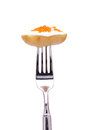 Potato with salmon caviar Stock Image