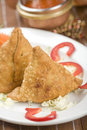 Potato samosa, indian food Royalty Free Stock Images
