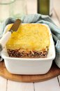 Potato sauerkraut and meat bake mashed minced Royalty Free Stock Photos