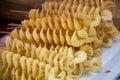 Potato twist in the market Stock Photo