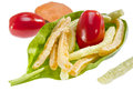 Potato vegetable stick chips colorful with is a healthier choice Royalty Free Stock Photos