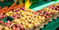 Potatoes at Farmers Market Royalty Free Stock Images