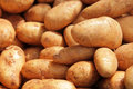 Potatoes a pile of on sale on a brixton farmers market Royalty Free Stock Image