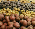 Potatoes For Sale Royalty Free Stock Photo