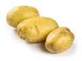 Potatoes on white background photo of three isolated a Stock Image
