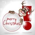 Poten rudolf happy smile christmas design Stock Afbeelding